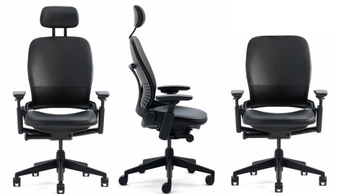 Steelcase Leap Chair with headrest image