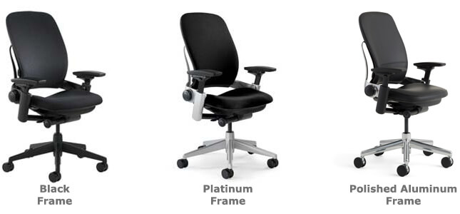 Steelcase Leap chair frame color options