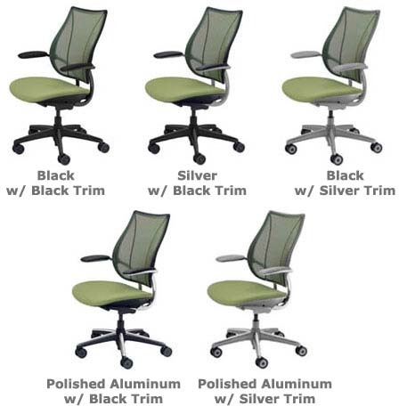 Humanscale Liberty chair frame color options